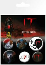 IT PENNYWISE HUSH 6 PACK OF BADGES NEW OFFICIAL MERCHANDISE