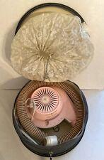 Vintage GE Bonnet Hairdryer Pink General Electric Deluxe Case Works F41HD1