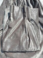 John Lewis MTM Voyage Mimosa Triple Pinch Pleat Blackout Lined Curtains Silver