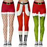 Damen Weihnachten Stretch Xmas Funcy Leggings Lange Skinny Hose Jeggings Leggins