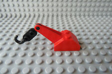 LEGO Red Tow Truck Hook Slope 45 2x3x1 1/3 Double Arm Boom Black Tow Hook 1572