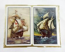 Vintage 1960's Piatnik Clipper Ships Two Deck Playing Cards Set