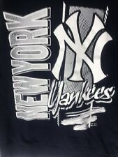 EUC Mitchell And Ness New York Yankees Throwback Sweatshirt, Med, Blue, Crewneck