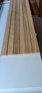 6 OAK TIMBER SOLID WOOD SLATS - 12mm Thick 32mm Wide Over 1 M long.