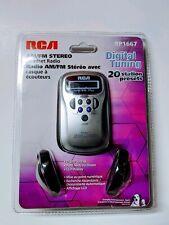 RCA RP1667 AM/FM Stereo Headset Radio with Headphones
