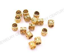 20/50/100Pcs Antique Tibetan Silver Big Hole Spacer Beads C3020