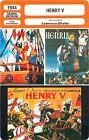 FICHE CINEMA FILM GB HENRY V Réalisateur Laurence Olivier