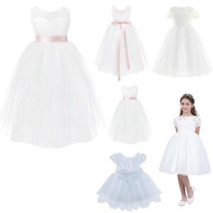 Flower Girl Princess Tutu Dress Party Birthday Pageant Wedding Kids Formal Gown