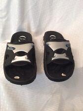 EUC S.C.I.I. 5th Ave Mens/Boys Slide Sandals Color Black/Gray Size 10