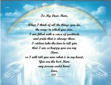 Christmas Gift~Birthday Gift For Mom~Mother~Mama Personalized Poem Rainbow Hands