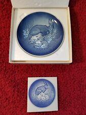 "1981 Bing & Grondahl Bunnies Mors Mothers Day Plate Procelain Denmark 5"" round"