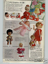 1968 PAPER AD Doll Wee Three Winking Winnie Baby Princess Little Luv Miss Peep