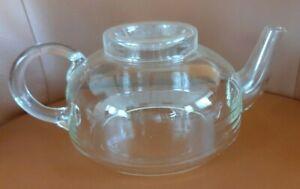 Sehr schöne Glas-Teekanne transparent 1L wie Jenaer Glas