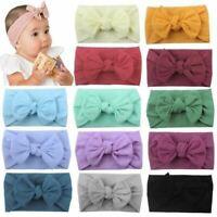 Super Soft Stretchy Nylon Knot Hair Bow Turban Headbands Hairbands Headwraps