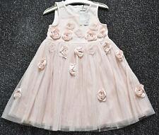 Vestido De Fiesta Hermoso Niñas de 4-5 años Nuevo con etiqueta Próximos Rosa Ramillete Ocasión