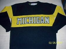 Vtg Nutmeg Mills Michigan Wolverines Xl sweater great condition *Rare*