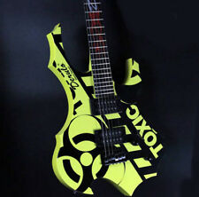 Yellow+Black New High-Grade Basswood 24 Frets Single Wave Electric Guitar #