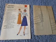 Vintage 1970s Silver Needles sewing pattern No: 1 Wrapover Skirt uncut