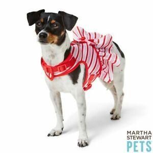 Martha Stewart Pets® Holiday Candy Cane Stripe Dress Harness Size Small New