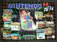 Nintendo 64 Poster Instruction Manual Booklet VGC N64 Collectible