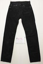 levi's 551 velluto nero jeans usato (Cod.J212) Tg.42 W28 L32 vintage jeans