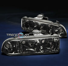 1998-2004 CHEVY S10/BLAZER CRYSTAL HEADLIGHT LAMP SMOKE 1999 2000 2001 2002 2003