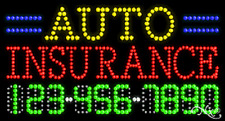 """New """"Auto Insurance"""" 32x17 w/Your Phone Number Solid/Animated Led Sign 25041"""