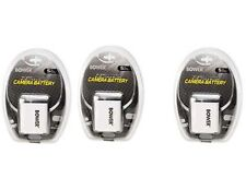 THREE 3X NP-60 NP-60DBA Batteries for Casio EX-Z20 EX-Z21 EX-Z22 EX-Z29 EX-Z80