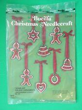 Bucilla Christmas Needlecraft Jeweled Holiday Ornaments Gingerbread Cookies 2824
