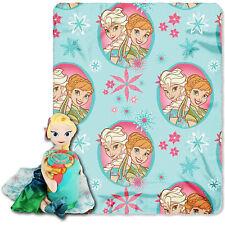 New Walt Disney Frozen Elsa Toddler Fleece Throw Blanket and Cuddle Pillow Set