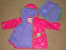 Wippette Girls Rain Jacket Coat Size 2-3 yrs Hood and Fleece Lining + Scarf