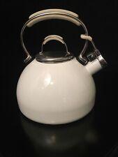 New listing KitchenAid 2 Qt / 1.9 L Whistling Tea Kettle Pot - White with Chrome Accents