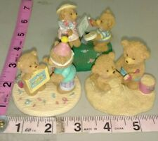 Vintage Russ teddy bear figurine sets, Russ berrie, teddy bears, Castle, +