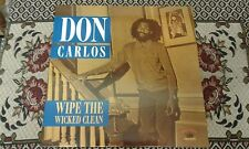 Don Carlos , Wipe The Wicked Clean  , New LP Kingston Sounds KSLP054