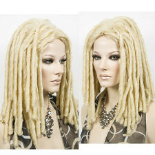 Dreadlocks Unisex Fashion Blonde Wig Long Wavy Locks Costume Curly Wavy Hair Wig