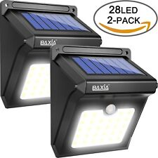Pack 2 Light Solar Exterior with Sensor motion Garden Patio Terrace Steps