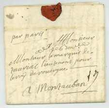 Österreichischer guerre de succession 1743 armée de Baviere Burglengenfeld armée lettre
