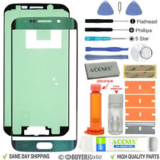 Samsung GALAXY S6 EDGE Replacement Front Glass Screen Repair Kit Green Emerald