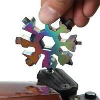 18 IN 1 Edelstahl Werkzeug Multitool Tragbar Schneeflocke Form Schlüsselanhänger