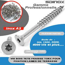 Vis terrasse bois inox torx 5x90 ideal terrasse 100pcs