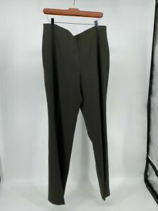 Belly-B-Gone by Ilusion Size 10P Black Charcoal Gray Front Zip Pants