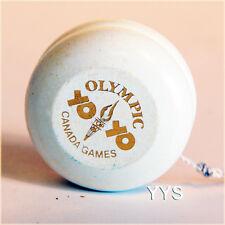 Vintage Collectible Canadian Olympic Wooden Yo-Yo - White