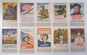 "Famous War Poster Miniature  #s 1-50 1940's ""complete set""  MNH OG VF See Pic"
