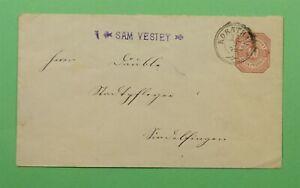 DR WHO 1879 WURTTEMBERG GERMANY STATIONERY KORNTHAL CANCEL C243574