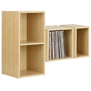 "Hartleys Oak Vinyl LP Music Record Storage Box Cube 12"" Case DJ Studio Cabinet"