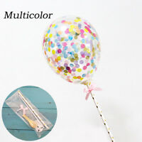 New Latex Ballons With Ribbon Wedding Birthday Decor Cake Toppers Party Supplies