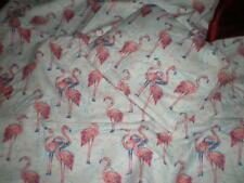 NIP TWIN SHEET SET PINK FLAMINGOS WITH BLUE 1 FITTED 1 FLAT 1 STD PILLOW CASE