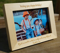 Personalised Engraved Frame Wedding Birthday Father Mother's Christmas Day Gift