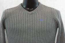 HOLLISTER V-Neck Sweater - Grey - S