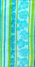 FLORAL AQUA LIME BLUE JUMBO LUXURY BEACH TOWEL 100% EGYPTIAN COTTON 90cm x 170cm